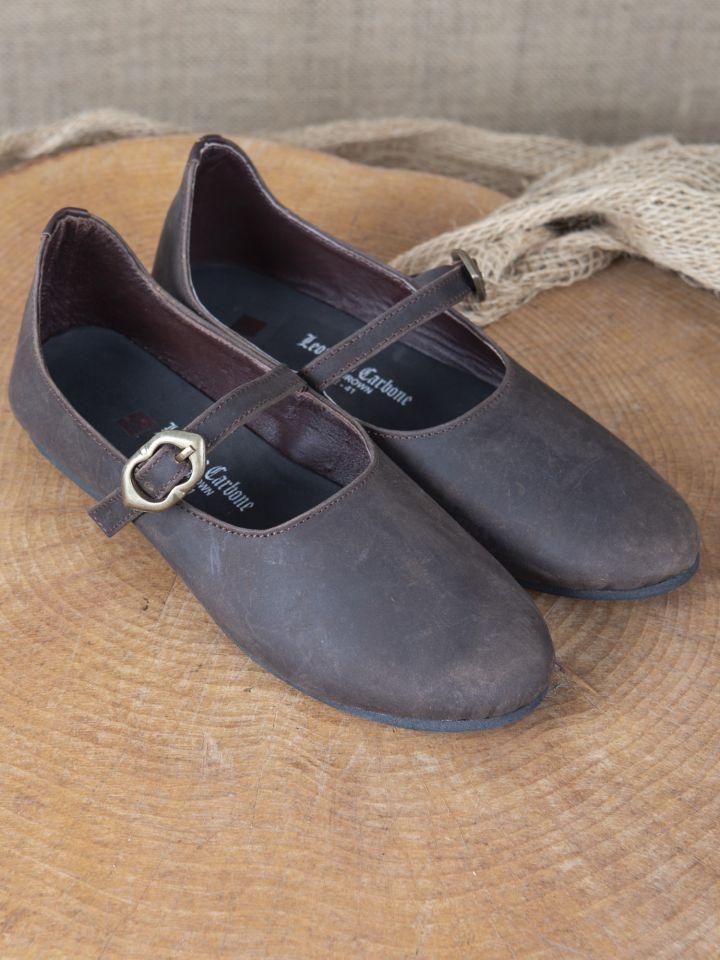 Chaussures médiévales Rieke en nubuck marron 2