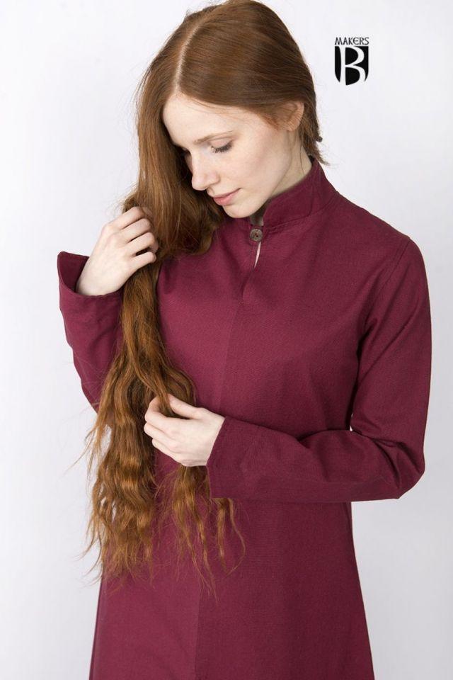 Longue robe Ranwen, rouge S 2