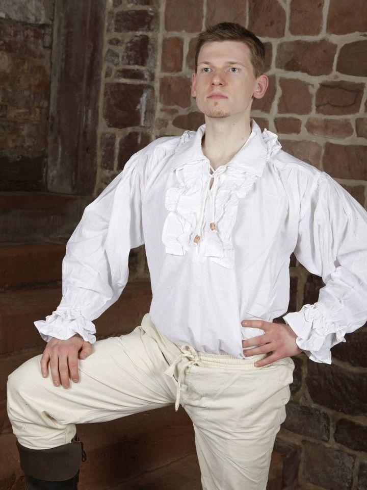 Chemise à jabot en coton L 2