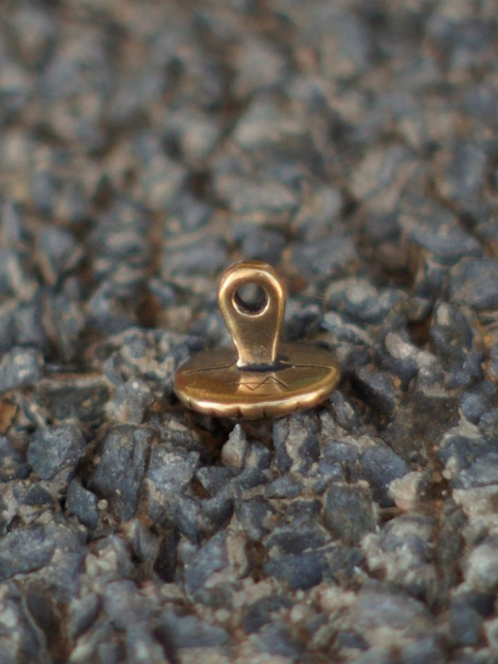 """Bouton médiéval """"fleur"""" en bronze 2"""