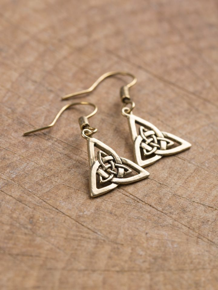 Boucles d'oreilles noeud celtique en bronze 2
