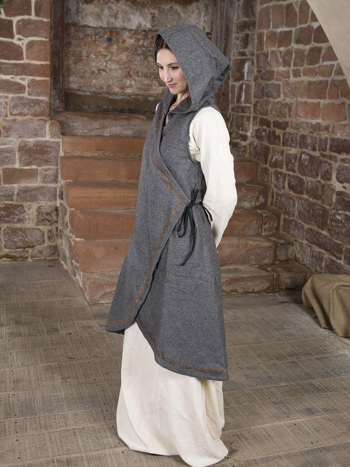 Robe portefeuille Dala en feutre gris 2