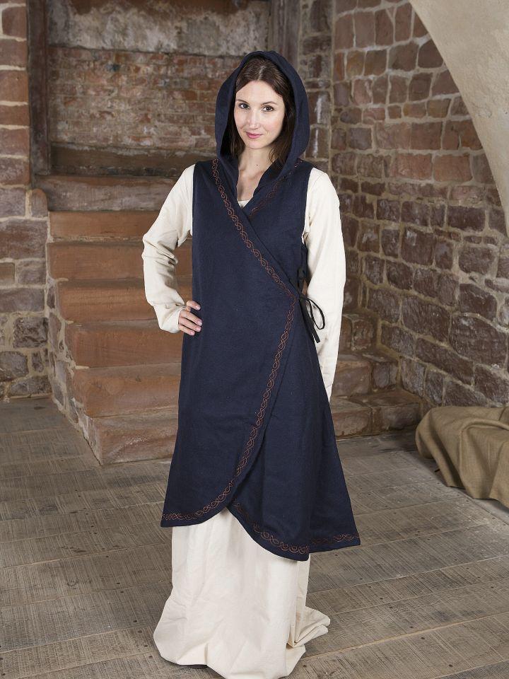 Robe portefeuille Dala en feutre bleu 2