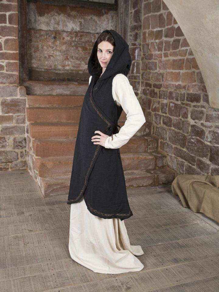 Robe portefeuille Dala en noir 2