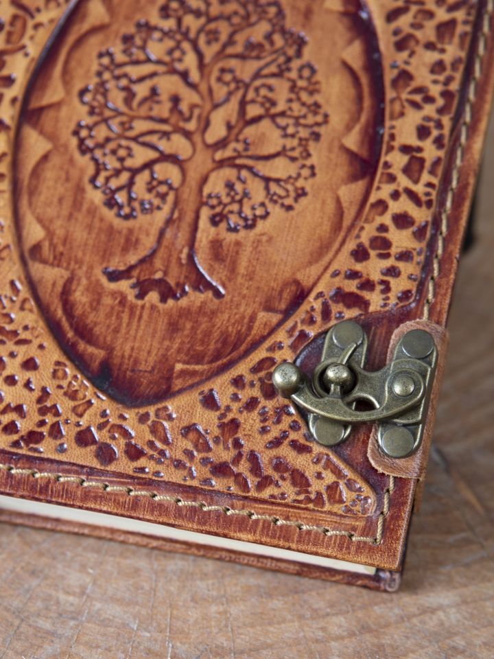 Petit carnet en cuir motif Arbre 2