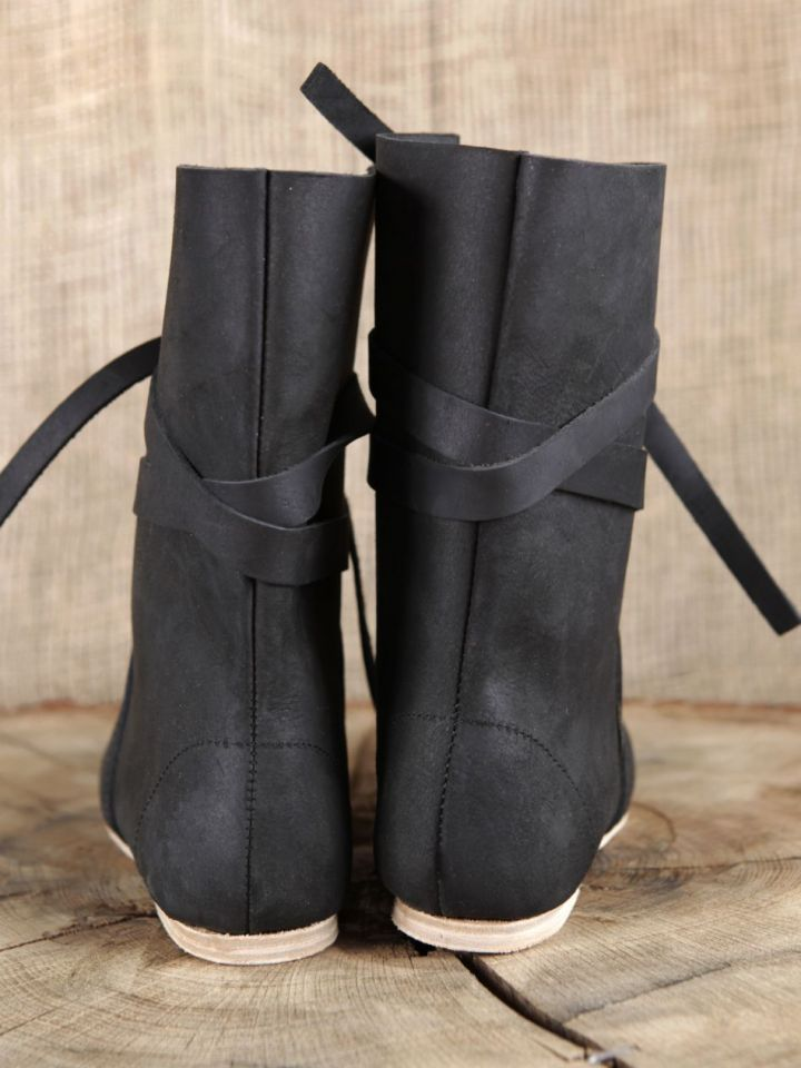 Bottines viking en cuir noir 48 2