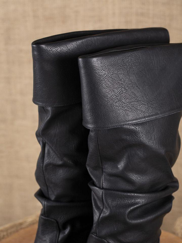 noirLa médiévale de pirate boutique en Grandes bottes OPXnk08w