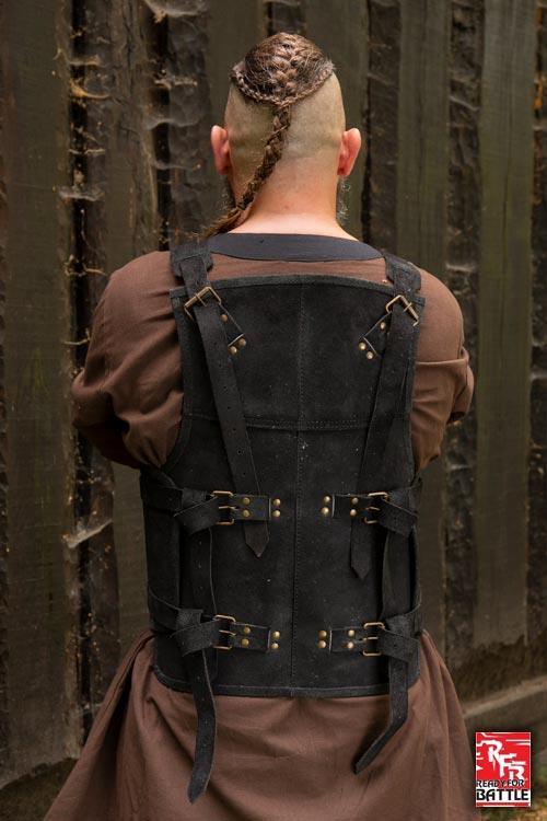Armure Viking en cuir noir 2
