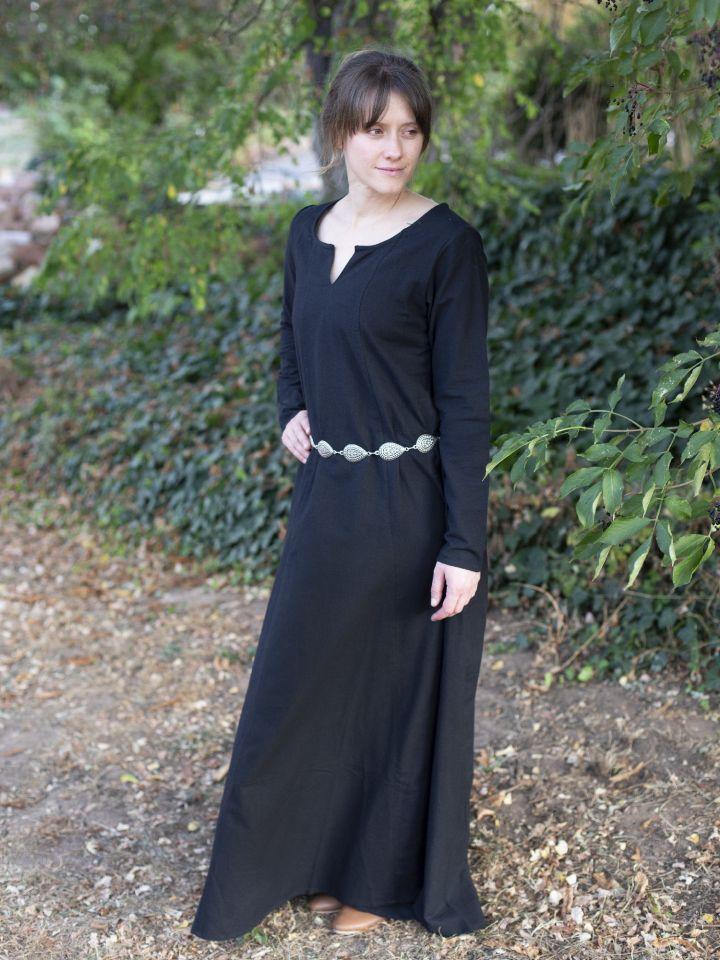 Robe médiévale simple, noire L 2