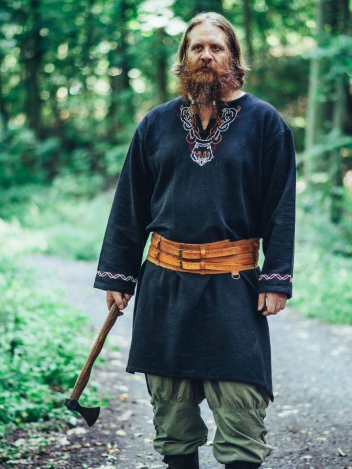 Ceinture Viking avec gaufrage brun foncé 2