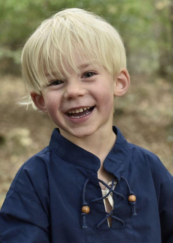 Chemise médiévale pour enfant, en bleu 2