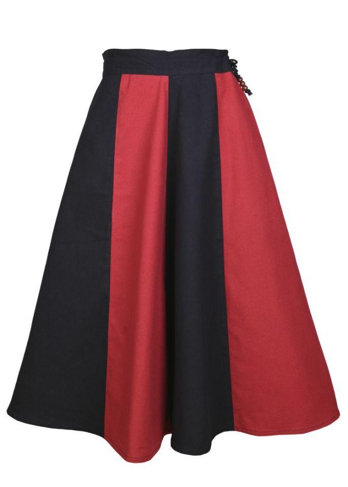 Jupe médiévale pour enfant, rouge et noire 2