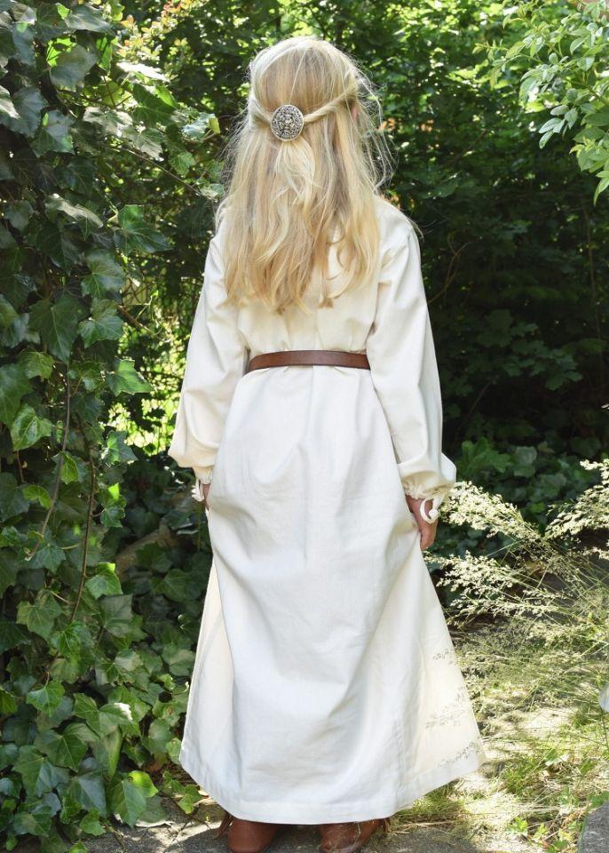 Robe médiévale Mara pour enfant écrue 2