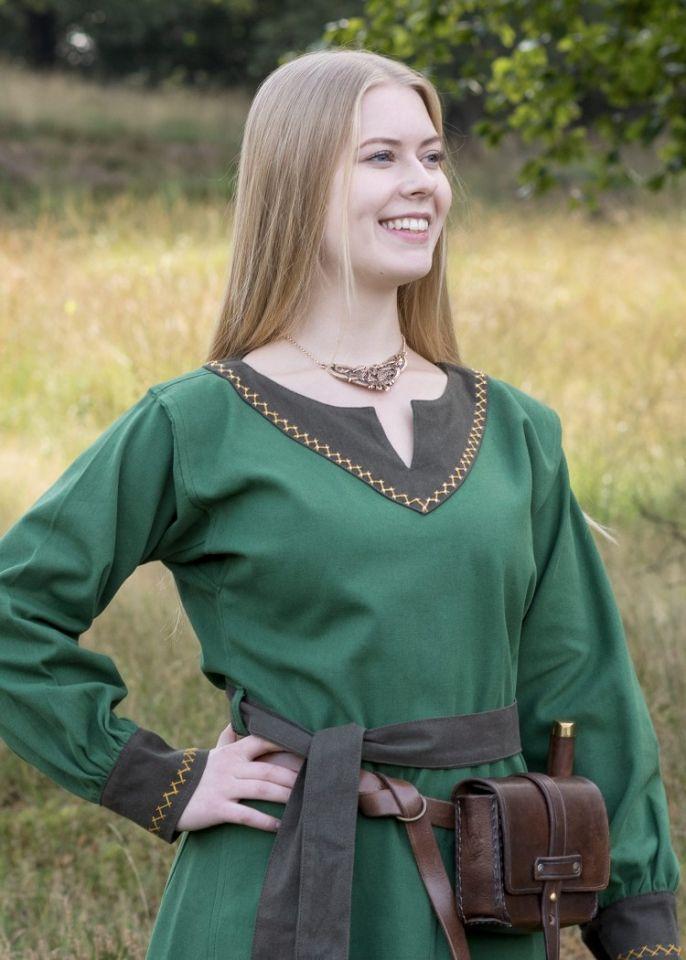 Robe viking Freydis en vert 2