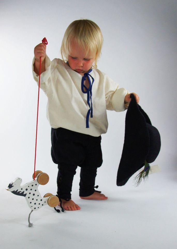 Pantalon médiéval enfant en noir 2