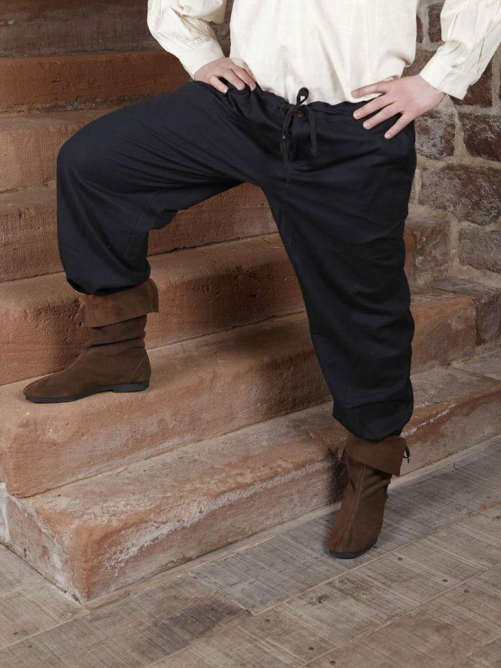 Pantalon médiéval en coton, avec poches noir XL | noir 2