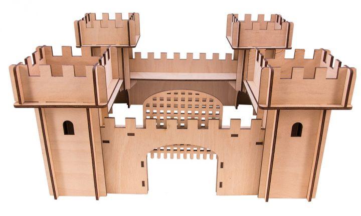 Chateau en bois 3D 2