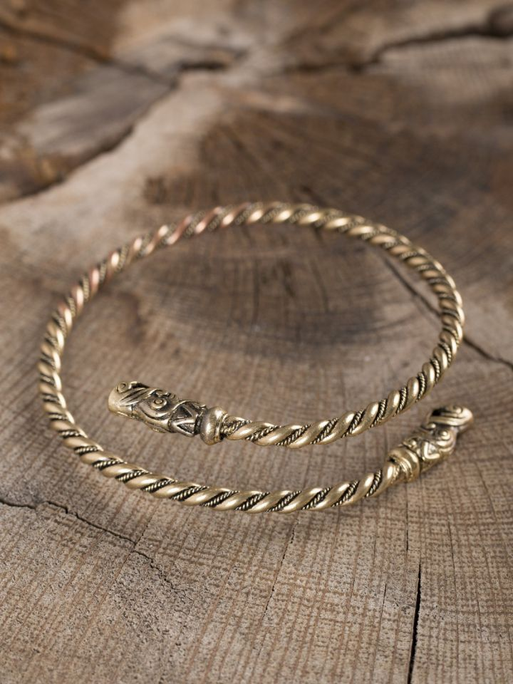 Bracelet viking spirale en bronze 2