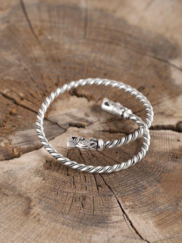 Bracelet viking spirale argenté 2