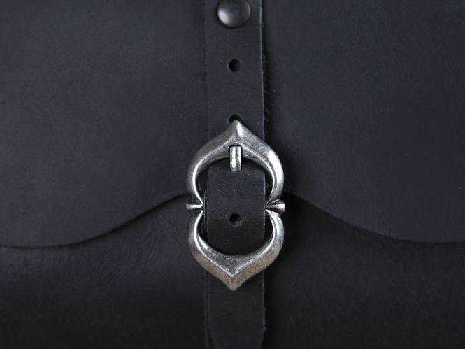 Sacoche de ceinture médiévale, noire 2