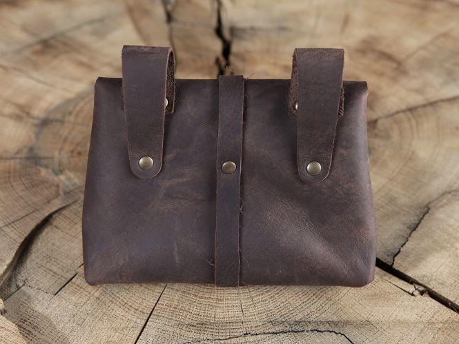Sacoche de ceinture médiévale, marron 2