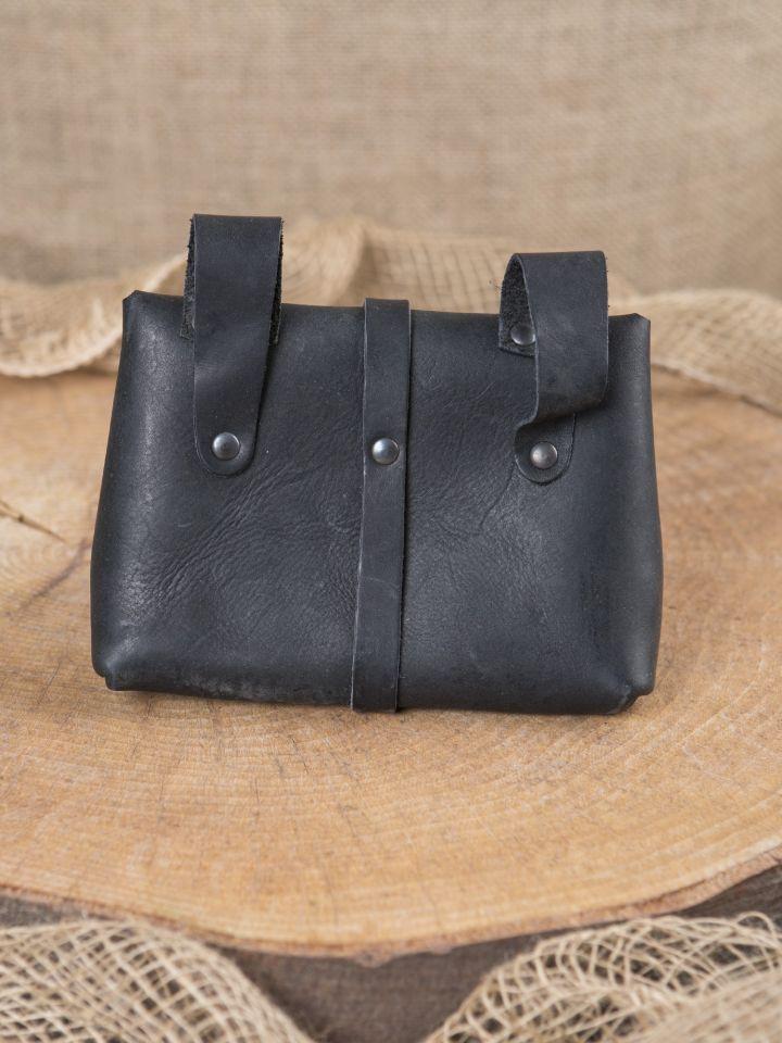 Sac de ceinture en cuir noir 2