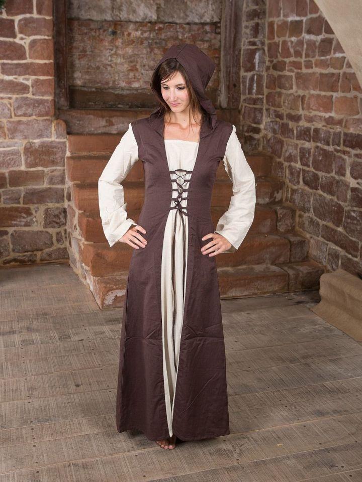 Robe médiévale à capuche L/XL 2
