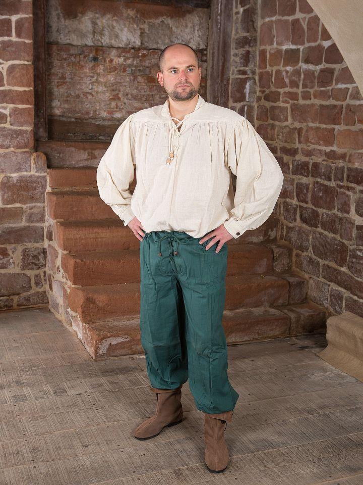 Pantalon médiéval en vert 2