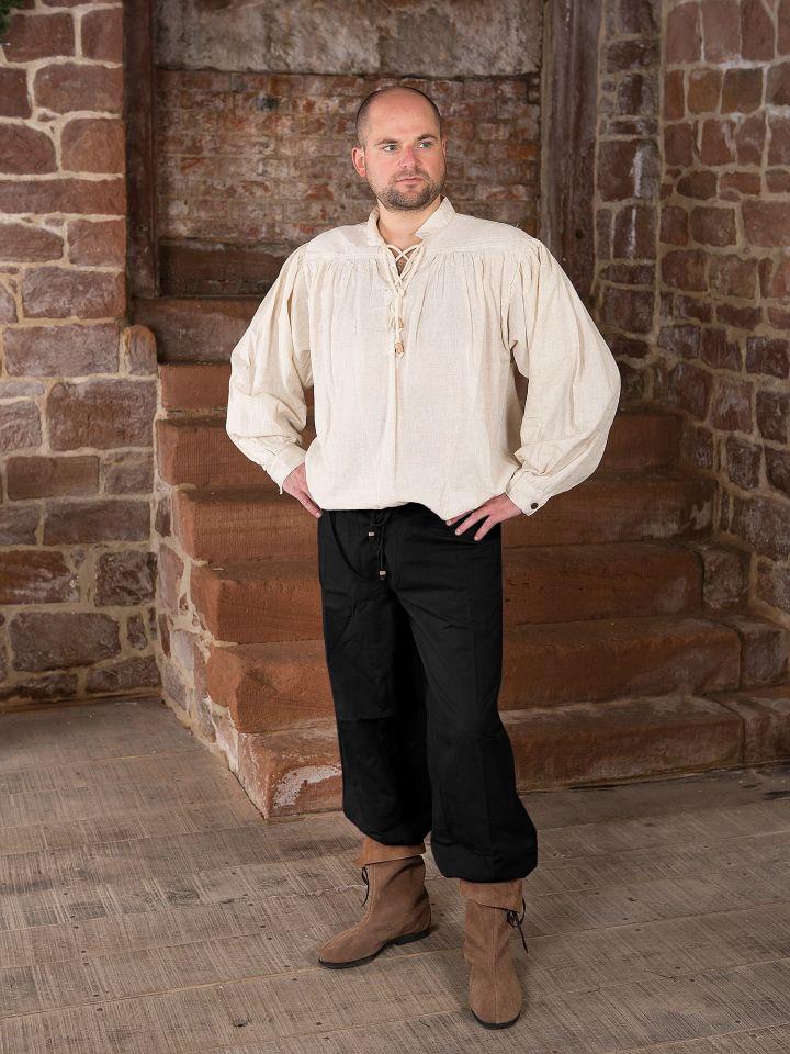 Pantalon médiéval en noir 2