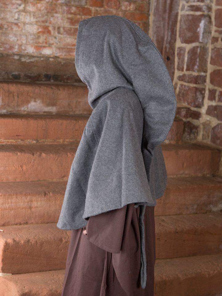Capuchon en laine feutrée en gris 2