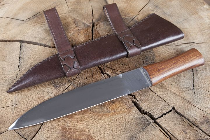 Saxmesser avec fourreau en cuir 2