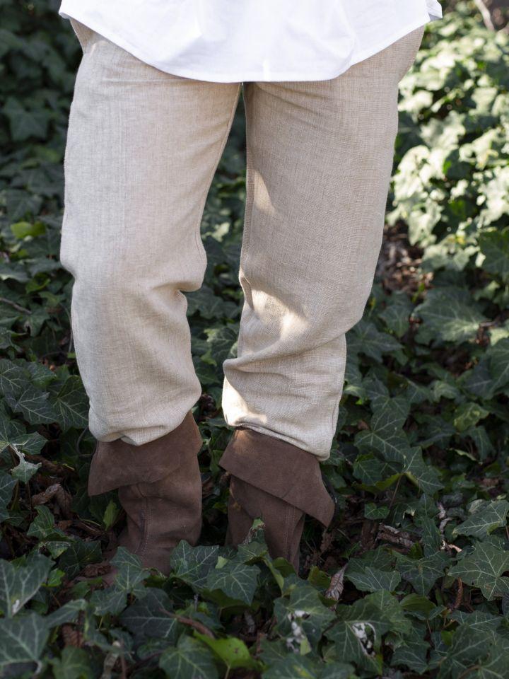 Pantalon médiéval de coton brut, chanvre 2