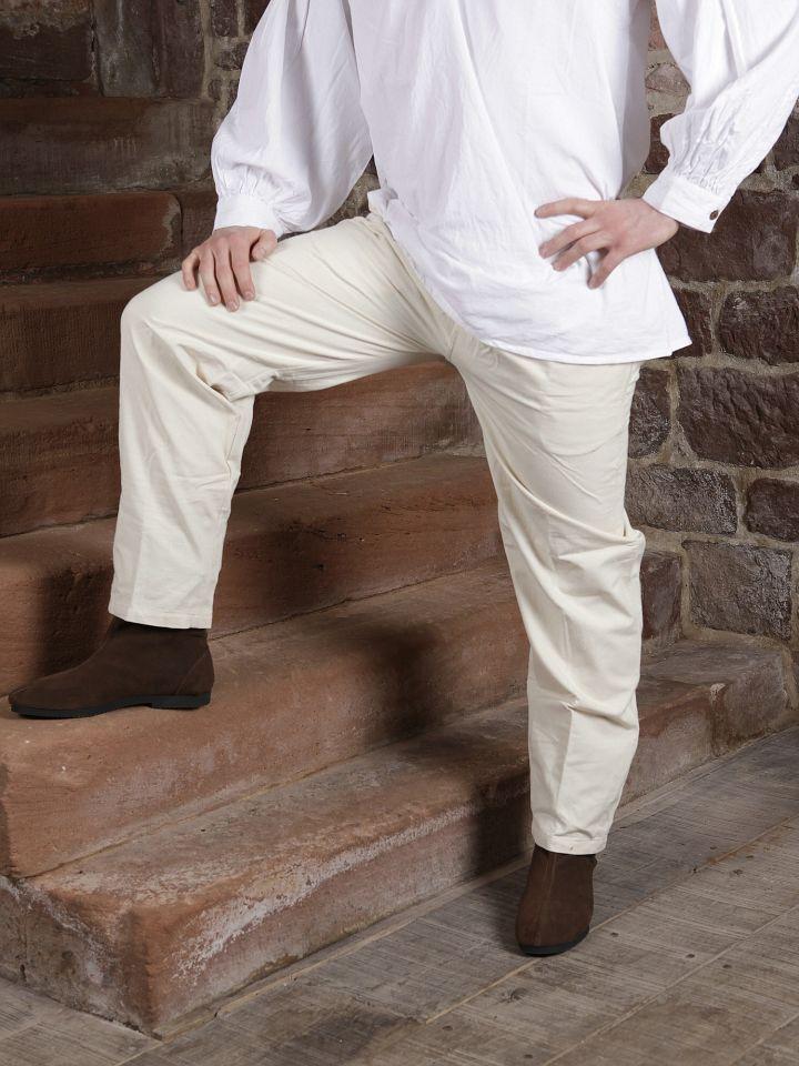 Pantalon médiéval écru 2