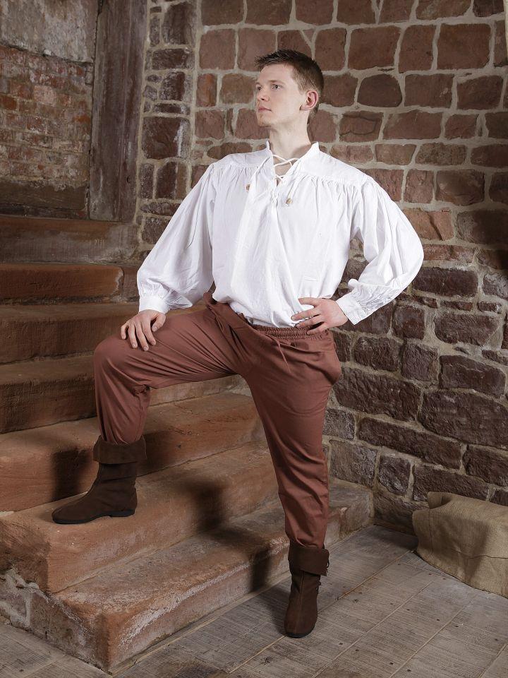 Pantalon médiéval en coton marron 2