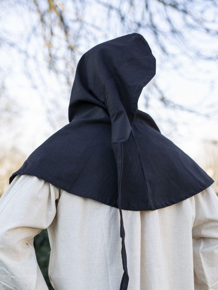 Capuchon noir avec ruban 2
