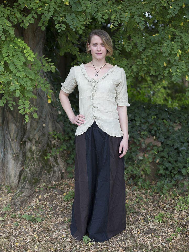 Jupe médiévale bicolore noire et marron 2