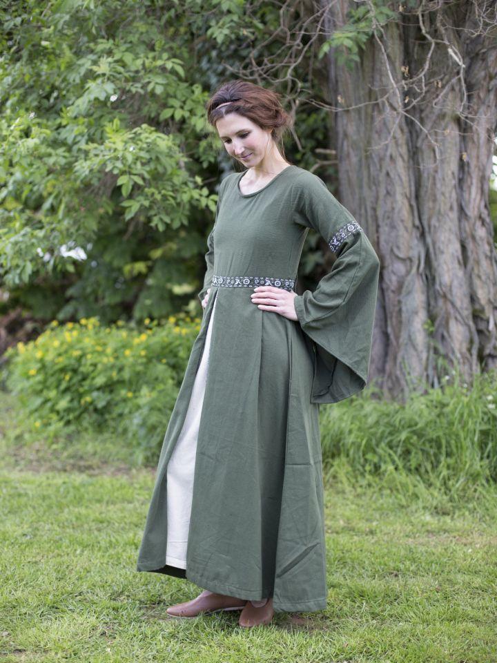Robe médiévale vert forêt 2