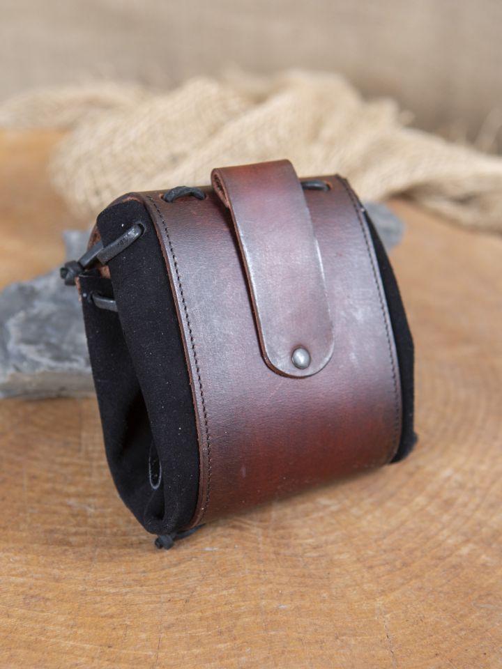 Sac de ceinture noir et marron 2