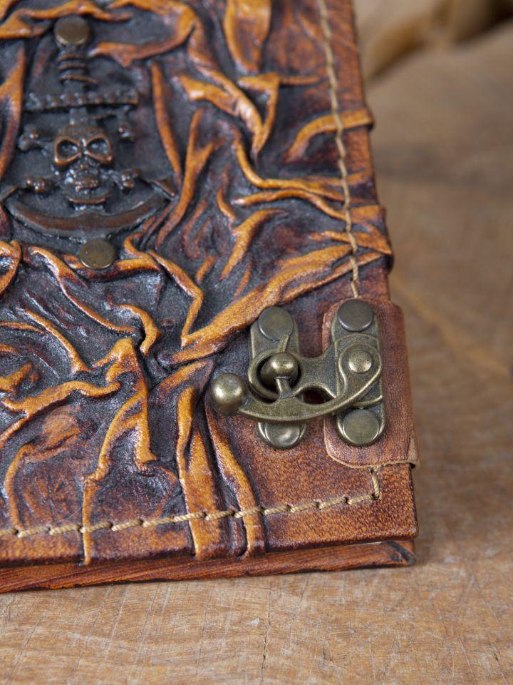 Petit carnet en cuir motif Pirate 2