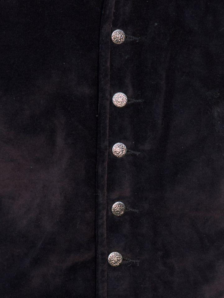Veston médiéval Ludwig, noir 2