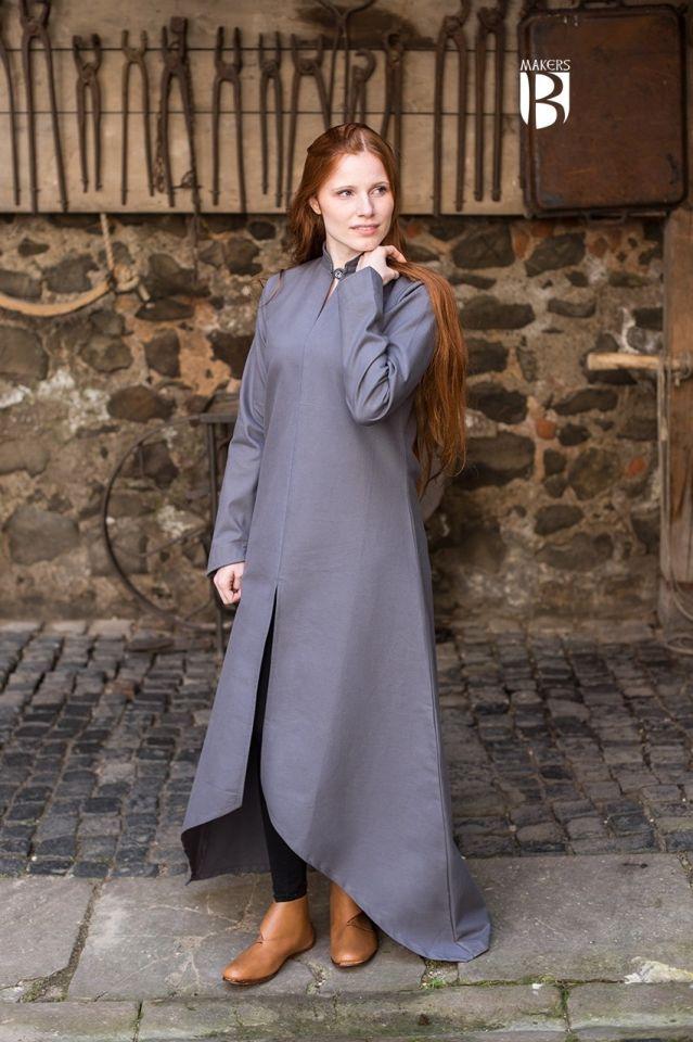 Longue robe Ranwen en gris XL 2