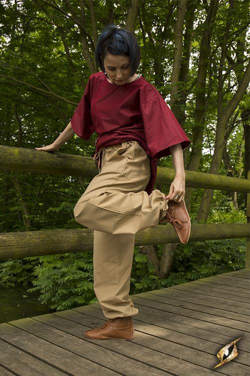 Pantalon paysan couleur sable 2
