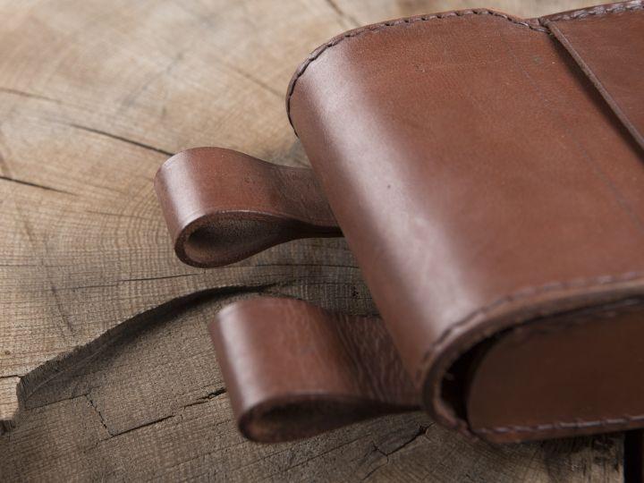 Grande sacoche de ceinture en cuir 2