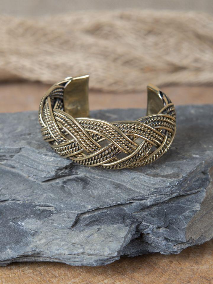 Bracelet Viking motifs joncs tressés 2