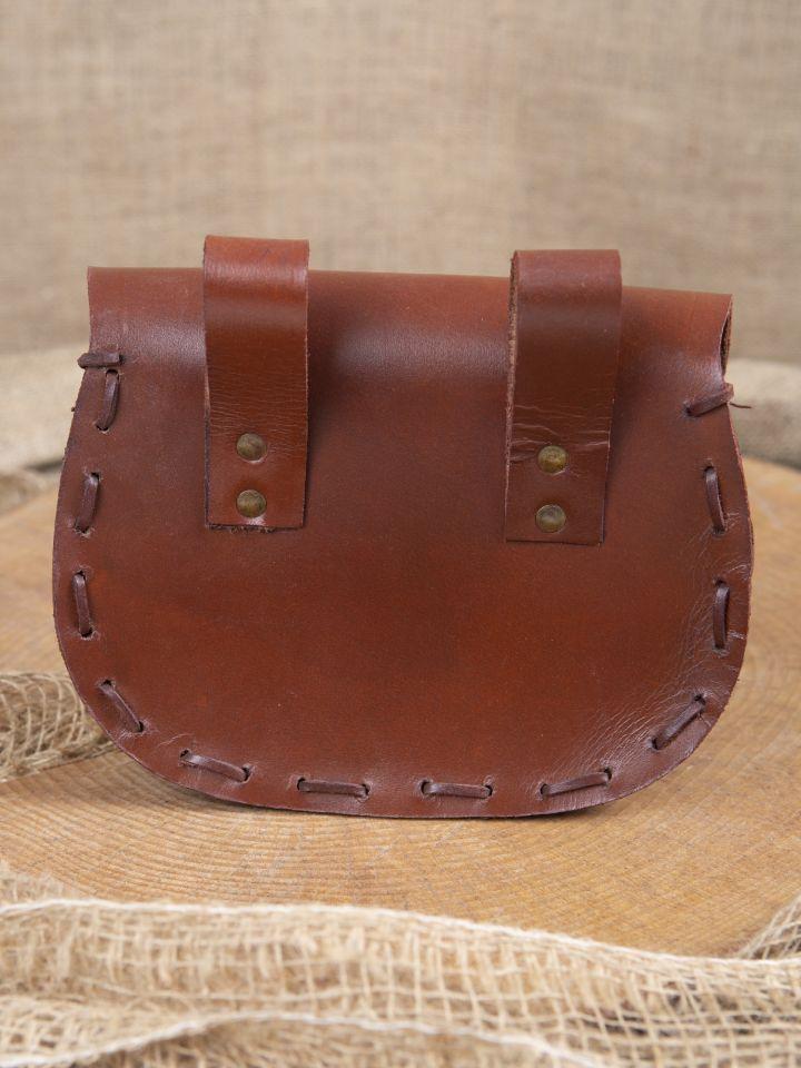 Sacoche de ceinture en cuir triskele en marron 2