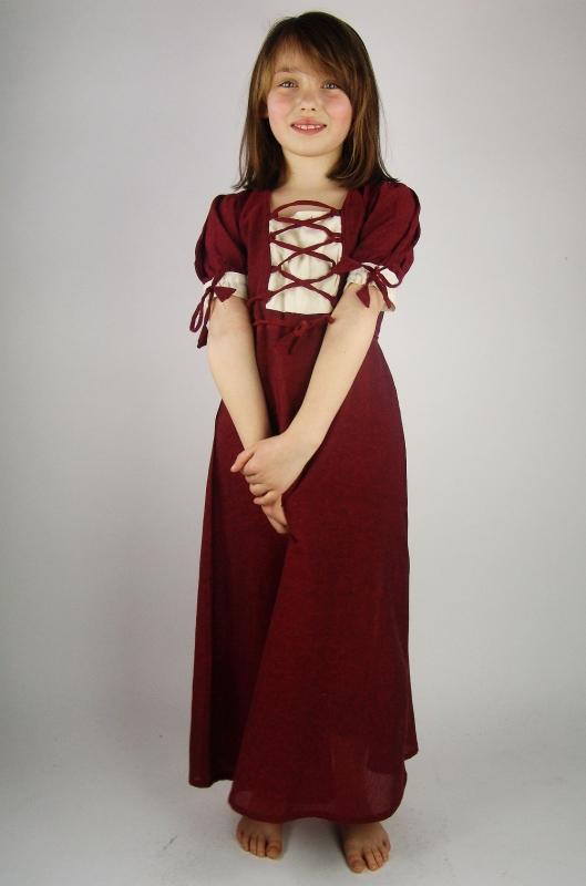 Robe rouge légère pour enfant 2