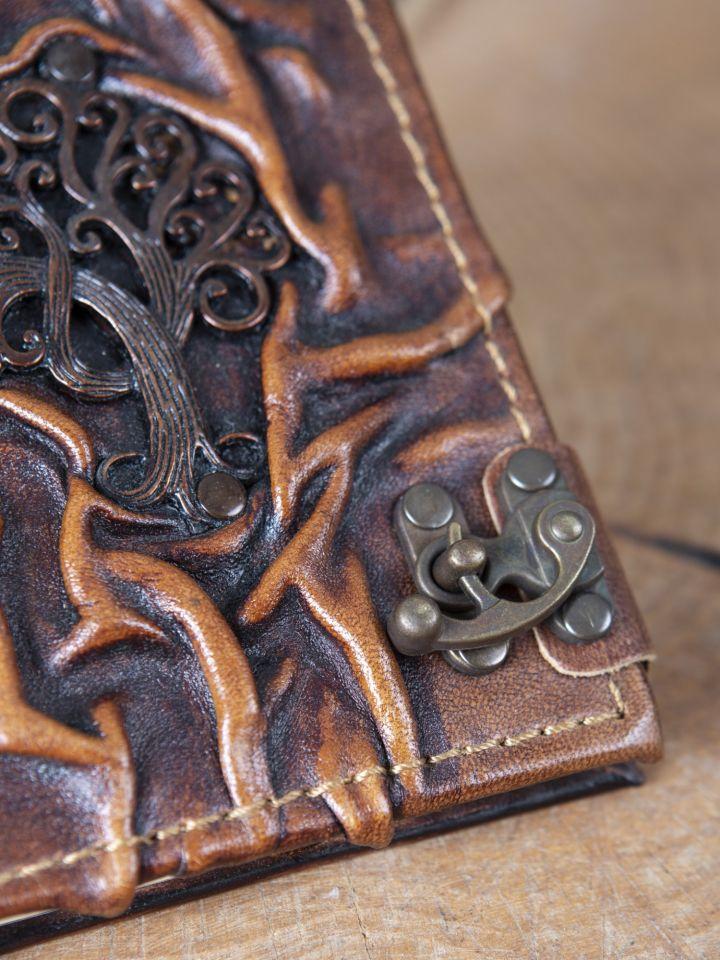 Carnet en cuir motif Olivier 2