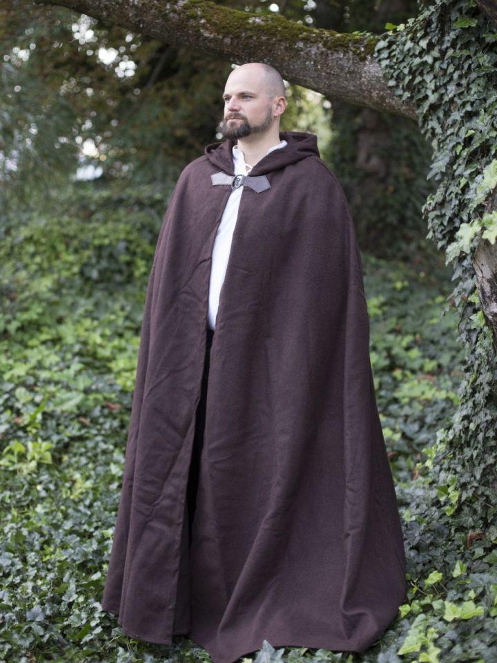 Cape unisexe en laine, en brun 131 cm 2