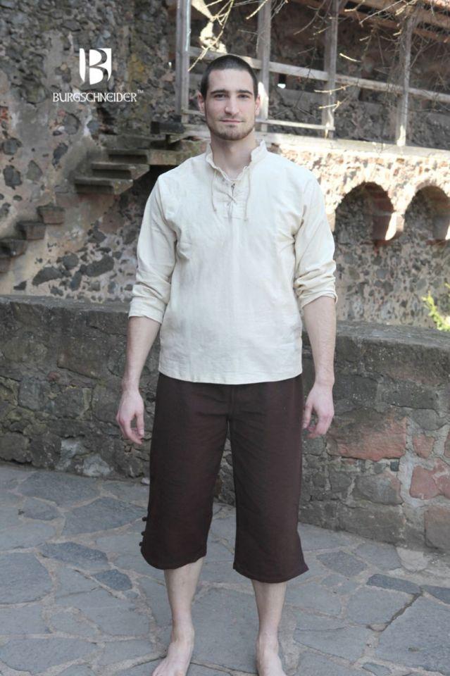Chemise médiévale Tristan en écru XXXL 2
