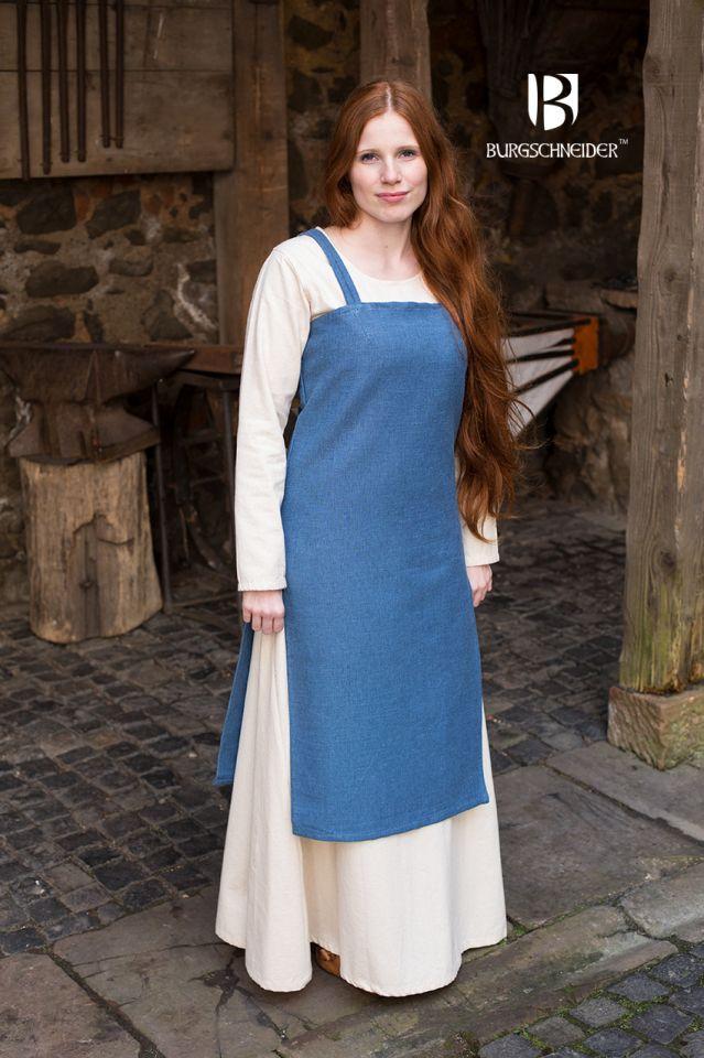 Robe Viking Frida en bleu cyan 2